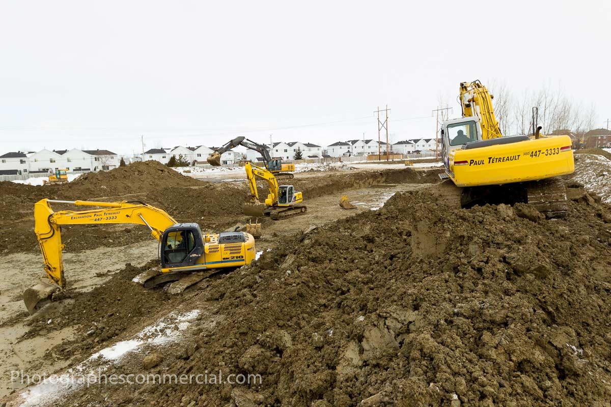 Photographe chantier de construction par Photographescommercial.com