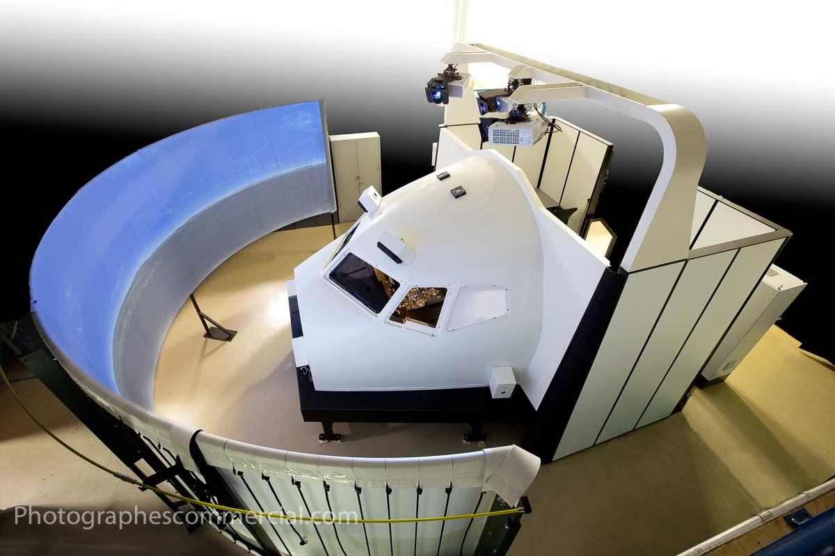 Photos industriel de simulateur de vol par Photographescommercial.com