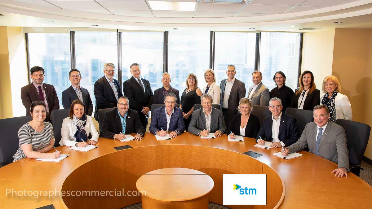 Photographe corporatif événement Montréal STM