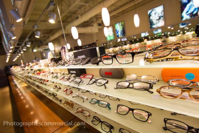 Photo commercial de produit lunette à Montréal