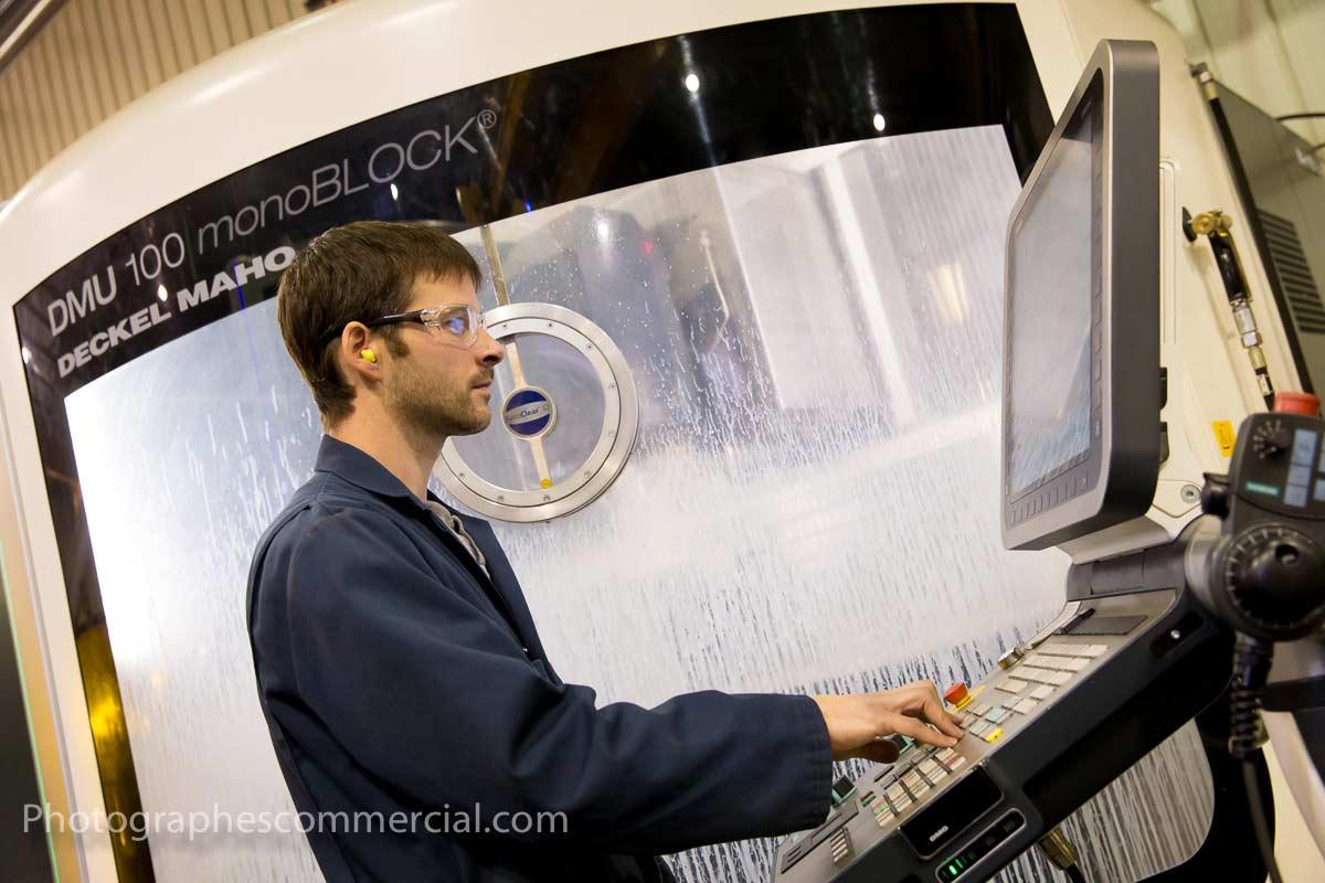 Photographe industriel dans une usine par photographescommercial.com