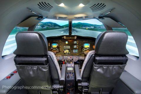 Photographe commercial pour simulateur de vol